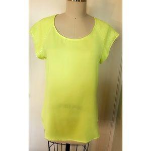 Express Sequins Sleeve Shirt
